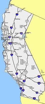 highway map of california
