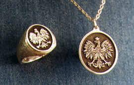 polish eagle ring