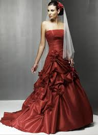 different colored wedding dresses