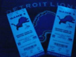 detroit lions ticket