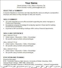 resume template examples