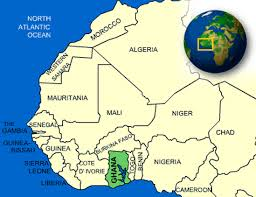 map of ghana west africa