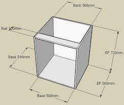 kitchen cupboard dimensions