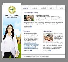 college website template