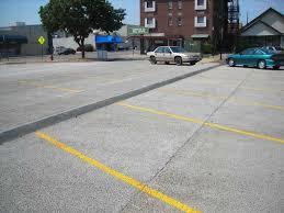 concrete parking lots