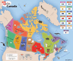 maps of canada for kids
