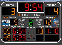 hockey score board