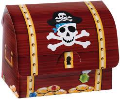cardboard treasure box