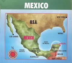 mexico tourism map
