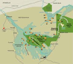map of okavango delta