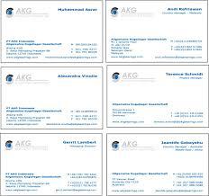 business card models