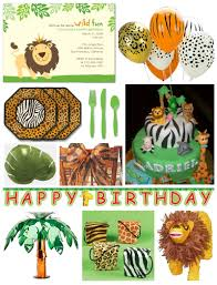 jungle birthday invitations