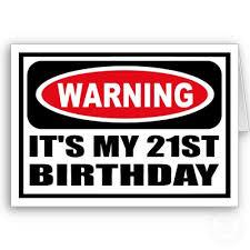 21st birthday signs