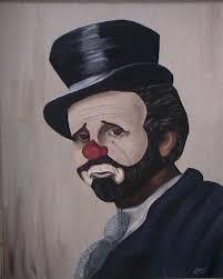 clown oil paintings