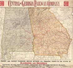 map of alabama and georgia