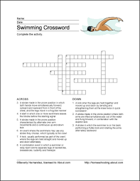 swimming words