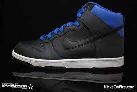 blue and black dunks