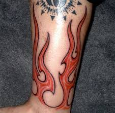 pictures of fire tattoos