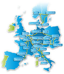 europe route map