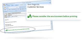 environment email signature