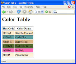 color hex table