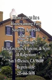 invitation house warming