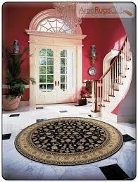 black floor rug