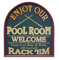 pool room sign