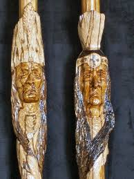 native american carved