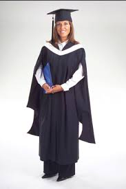 masters graduation gown