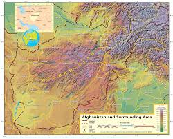 geographical map of afghanistan