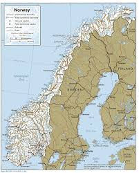 geographical map of norway
