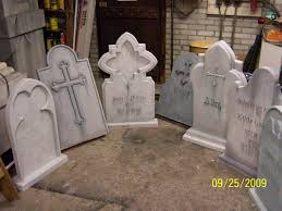 foam tombstones