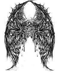 broken wing tattoo