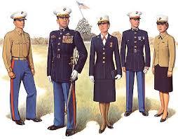 marine corps officer dress blues