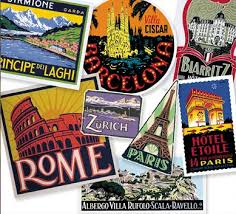 travel luggage stickers