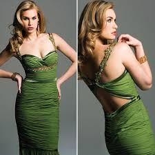 green pencil dress