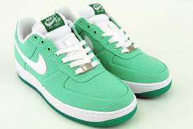 green nike air force one