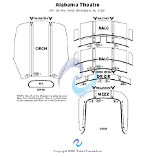 alabama theatre seating chart
