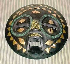 colourful african masks