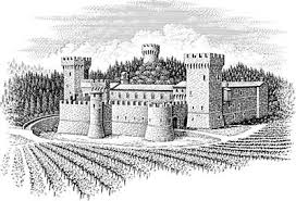drawing of castle