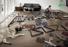 dominos art