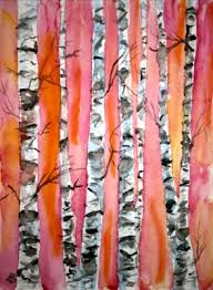 birch trees paintings