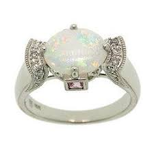 opal white gold ring