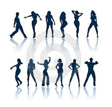 dancing figures clip art