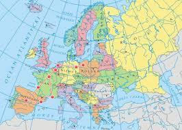 mapa europy po polsku