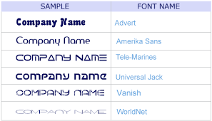 fonts styles