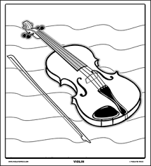 coloring pictures of musical instruments