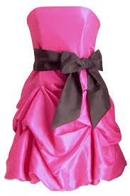 short hot pink dresses