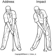 golf swing at impact